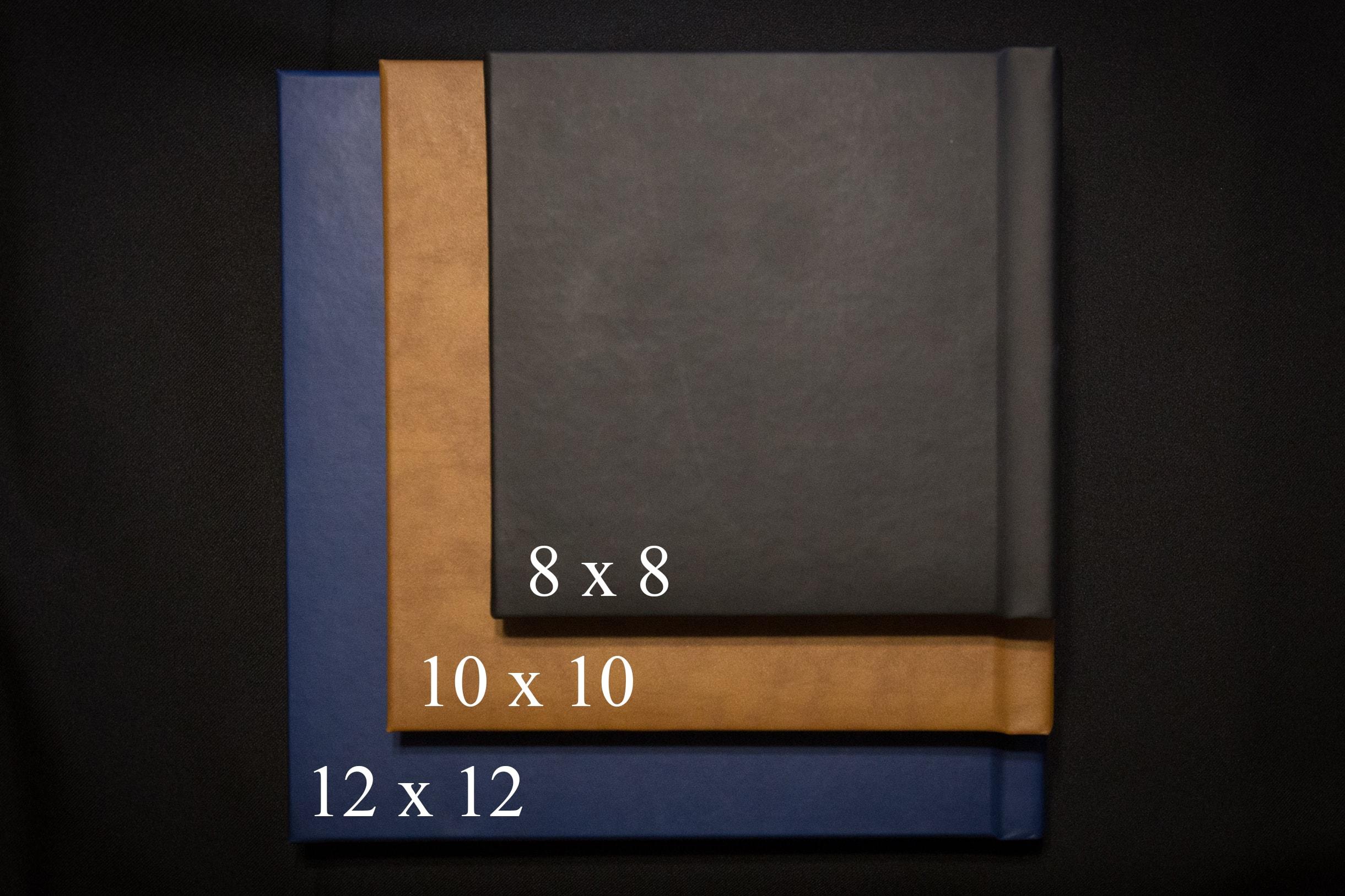 Lucy Schultz Photography wedding album sizes