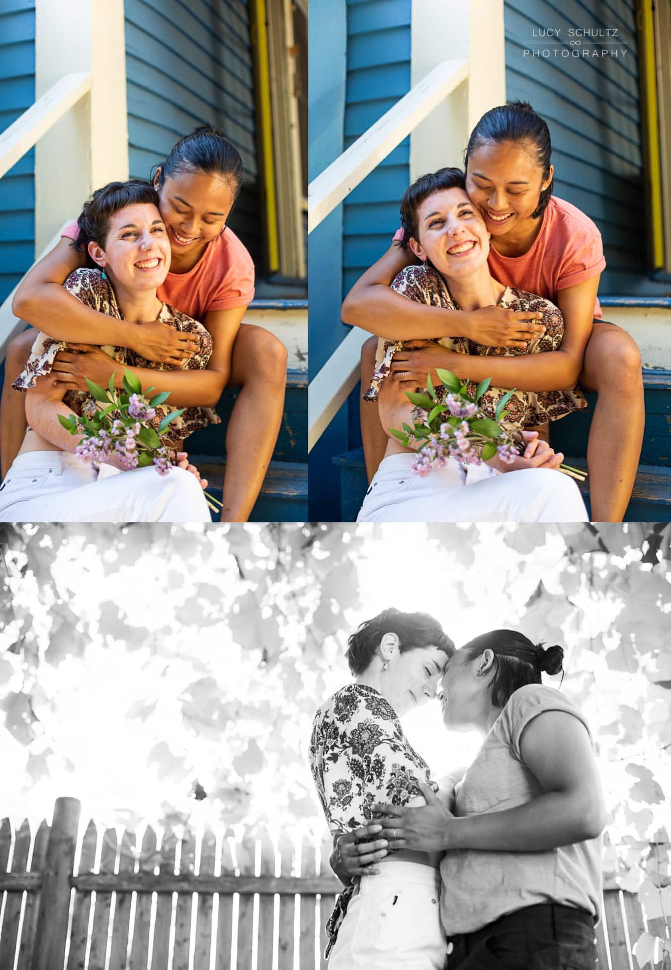 3CuteLesbianEngagementPhotosGayWeddingPhotographer