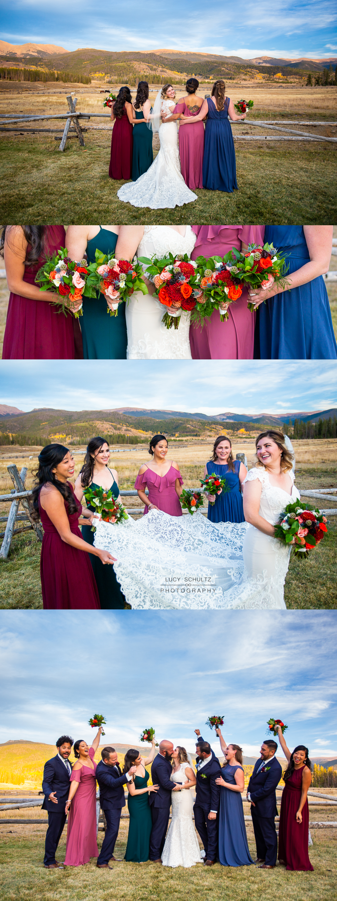 19MismatchedBridesmaidMountainWeddingBridalPartyIdeasColorado