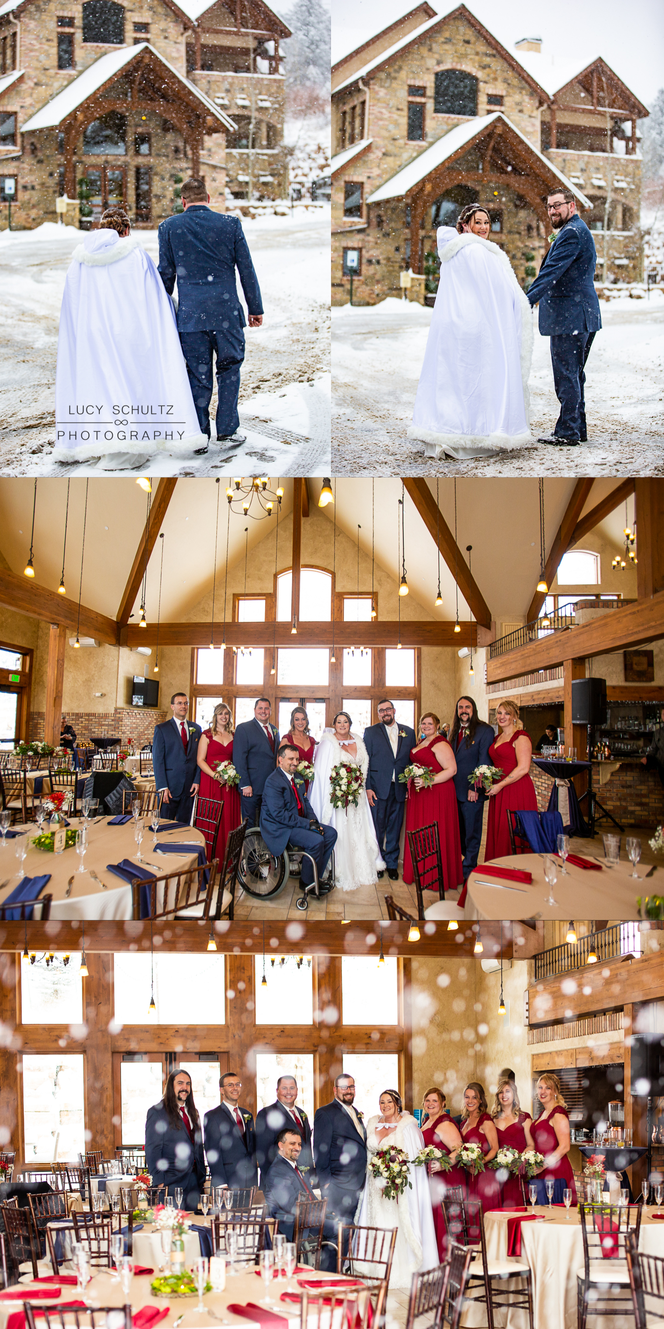 12DellaTerraWinterWEddingBridalPartyColorsNavyandRed