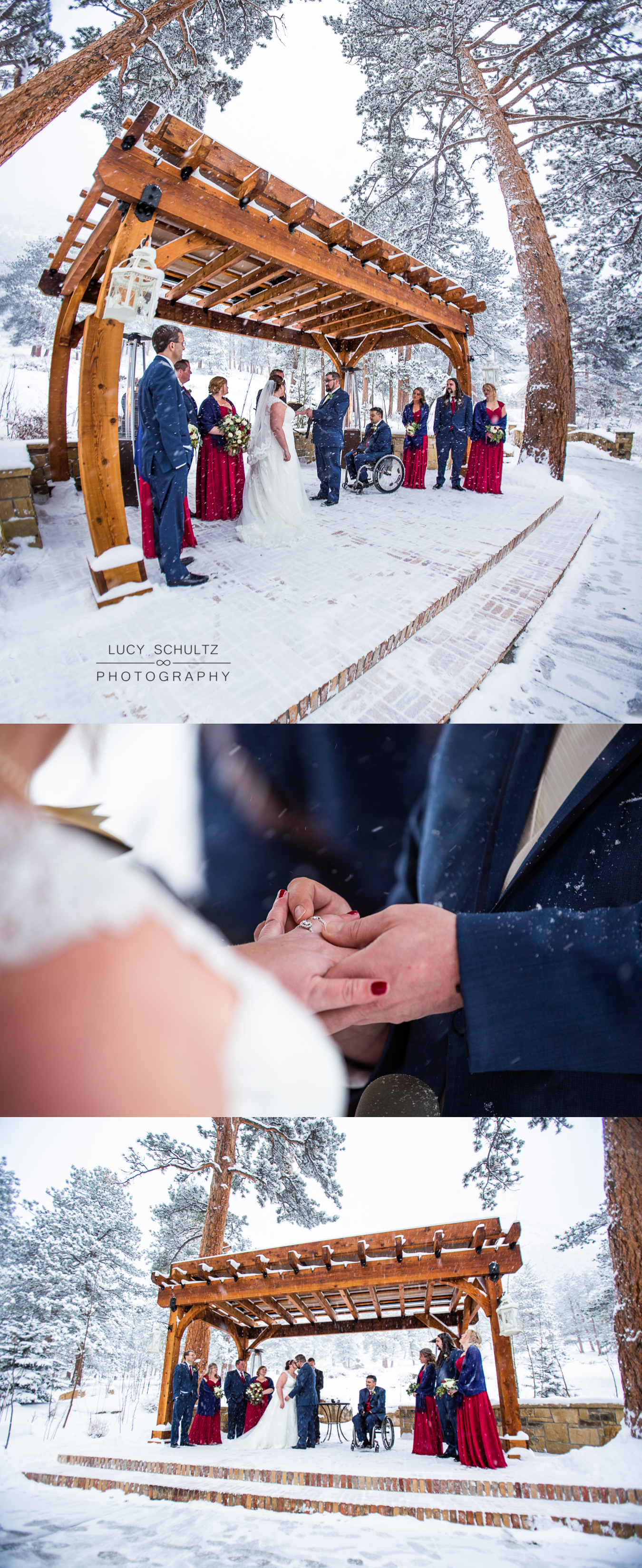 18RomanticOurdoorWinterWeddingCeremonyColoradoPhotographer