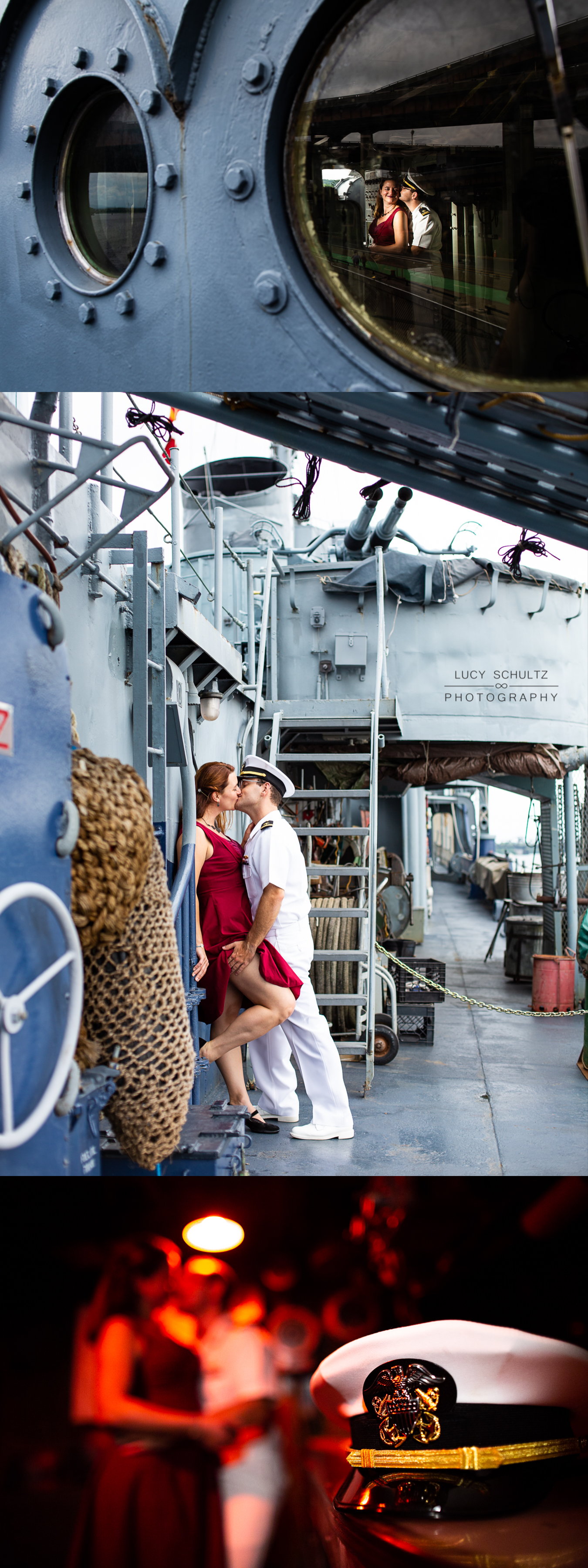 Hot military engagement photos on board a ship
