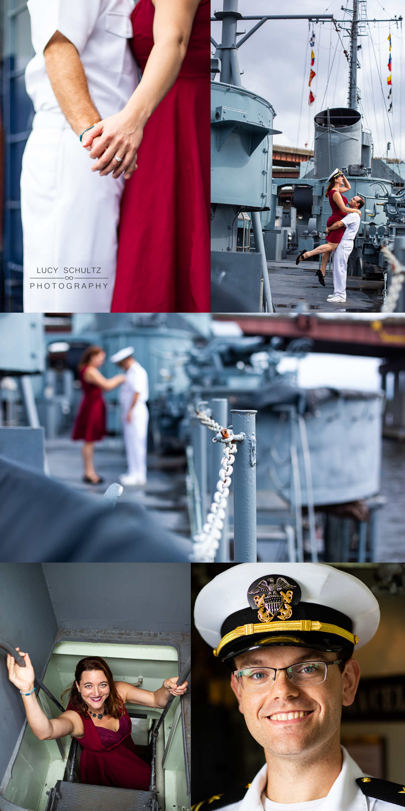 Navy themed military engagement photos
